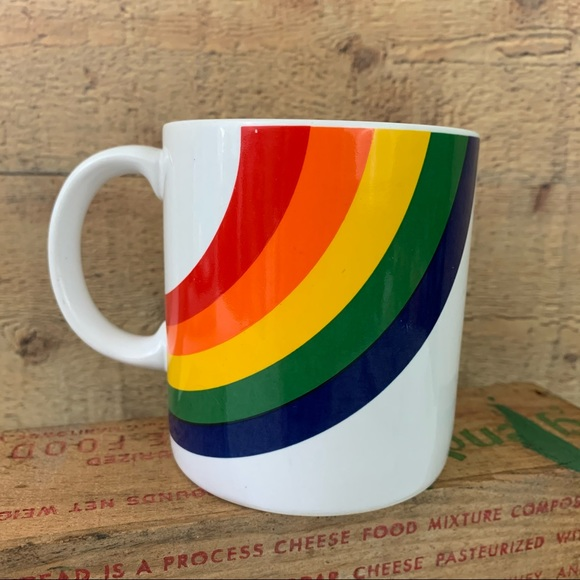 Vintage 1980's FTDD Happy Rainbow Mug
